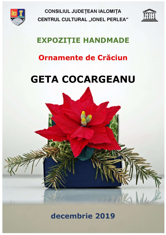 """EXPOZIȚIE HANDMADE – Ornamente de Crăciun, decembrie 2019, Centrul Cultural ,,Ionel Perlea"""""""