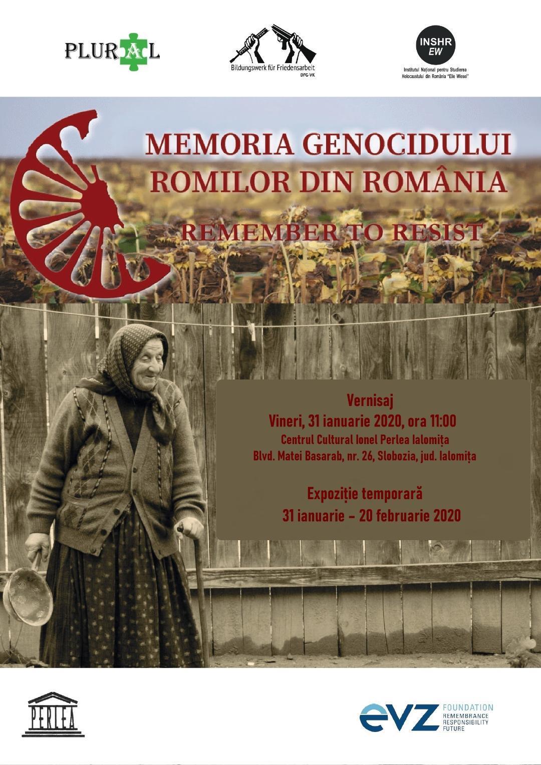 Memoria genocidului romilor din România – Remember to resist, 31 ianuarie 2020, ora 11:00