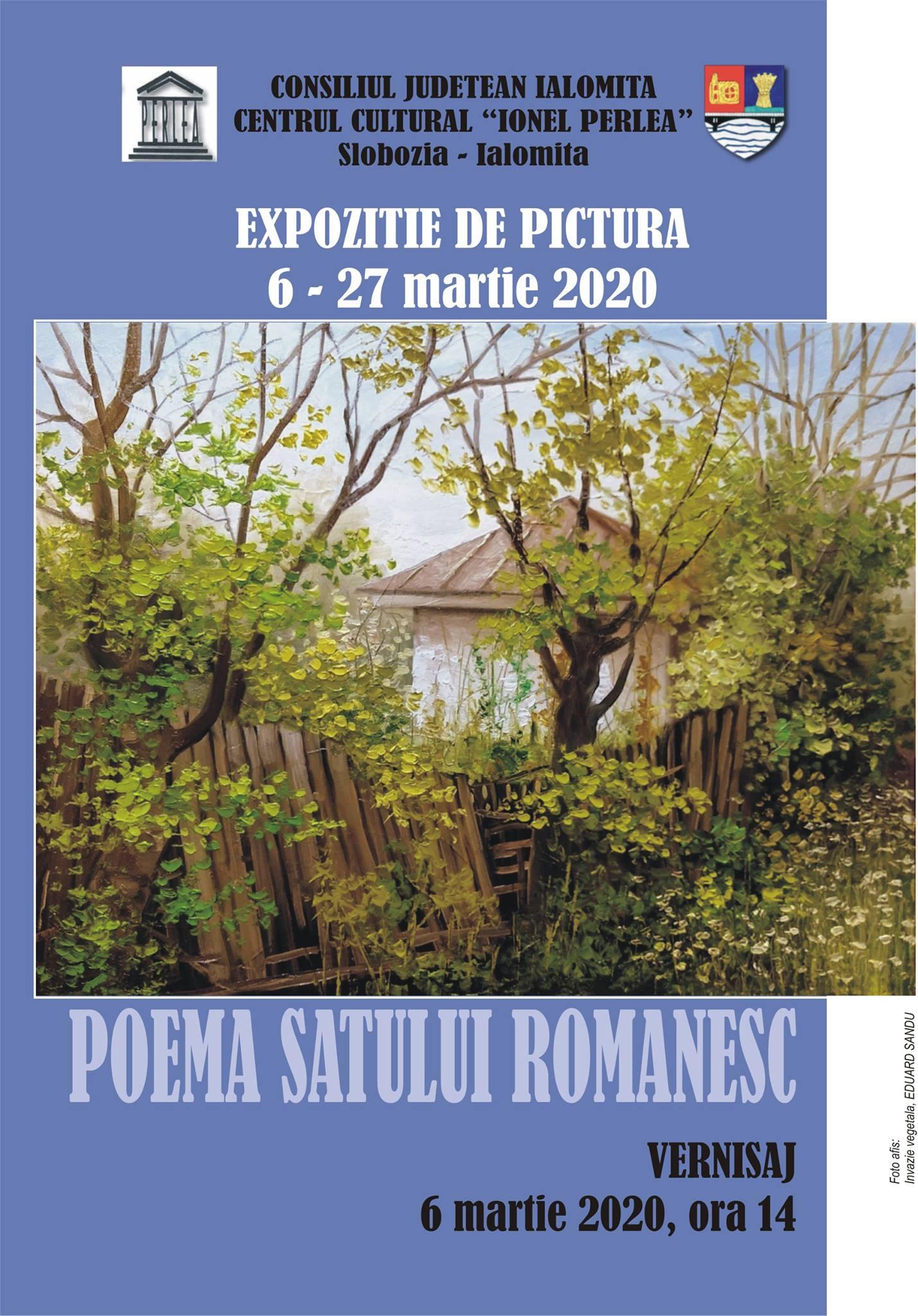 """Expoziţie de pictură – Poema satului românesc, 6 martie 2020, ora 14:00, Centrul Cultural ,,Ionel Perlea"""""""