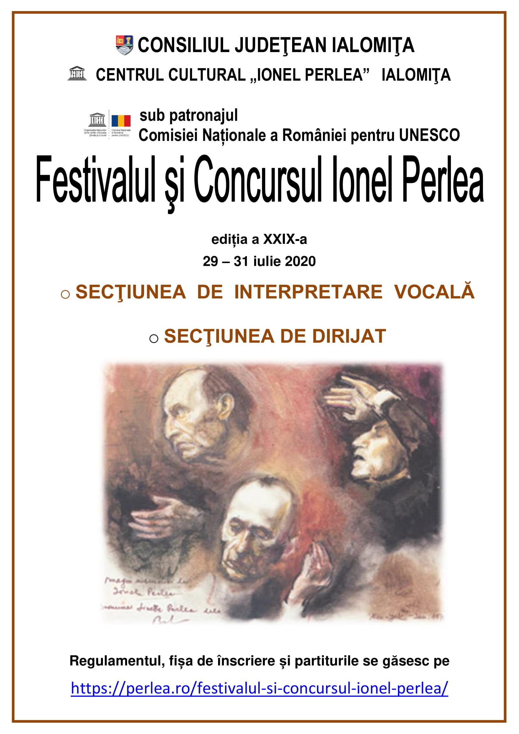 FESTIVALUL ŞI CONCURSUL IONEL PERLEA ediţia XXIX, 29 – 31 iulie 2020