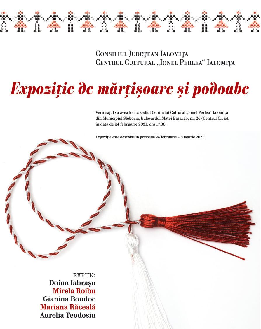 Expoziţie de mărţişoare şi podoabe, 24 februarie – 08 martie 2021