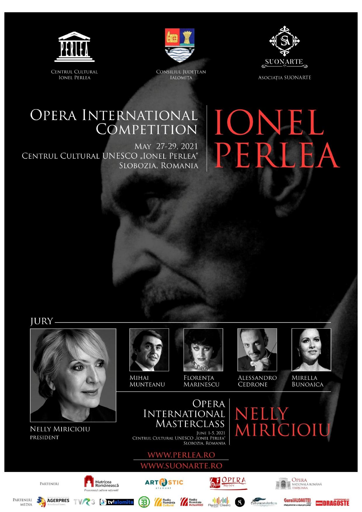 """Concursul internaţional de canto ,,Ionel Perlea"""" 27 – 29 mai 2021, Slobozia, Ialomiţa, România — Evidențiat"""