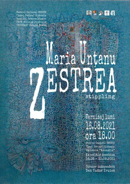 """Expoziţie de stippling """"Zestrea""""- Maria Unţanu, 16 august 2021 ora 18:00, Centrul Cultural """"Ionel Perlea"""""""
