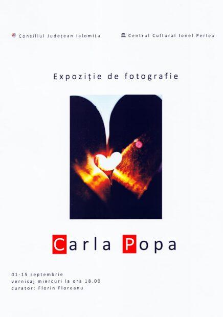 Expoziţie de fotografie Carla Popa, 01-15 septembrie 2021.