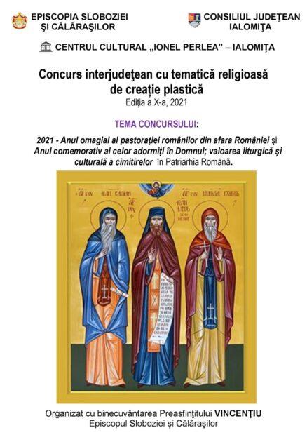 Concurs interjudeţean cu tematică religioasă de creaţie plastică, ediţia a X-a